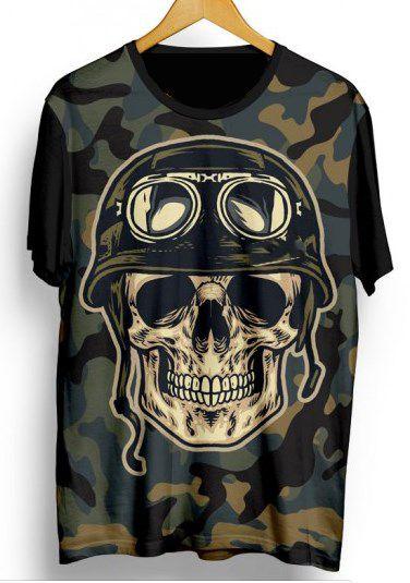Camiseta Camisa Full Estampada Masculina