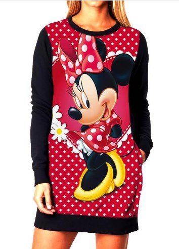 Vestido Feminino Moletom Minnie