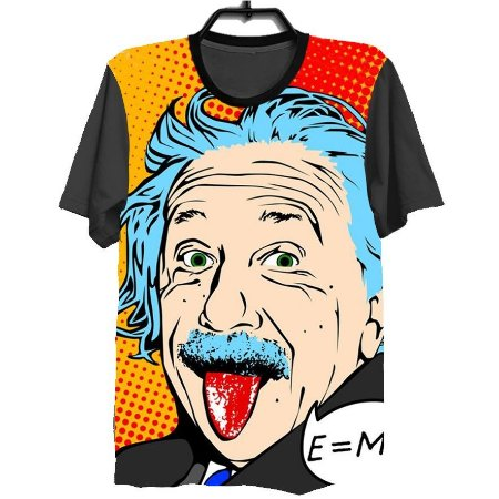 Camiseta Camisa Full Estampada Masculina Albert Einstein