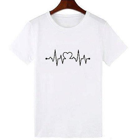 Camisa Camiseta T-Shirt Feminina Coração 01