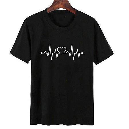 Camisa Camiseta T-Shirt Feminina Coração 02