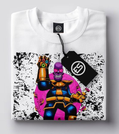 Camiseta T-Shirt Estampada DTG Homer Thanos Coleção ES