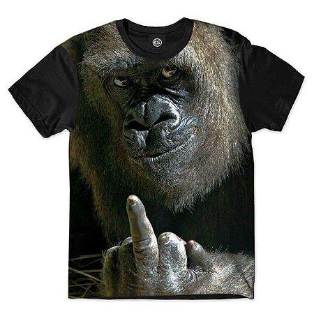 Camiseta Gorila Mostrando DEDO
