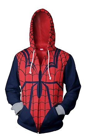 Blusa Agasalho Casaco Full Homem Aranha de Ziper