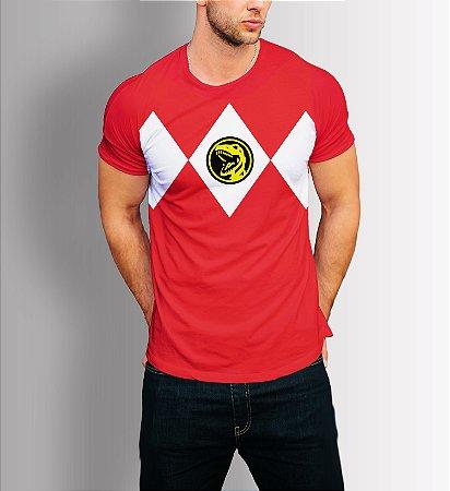 Camisa Camiseta Power Rangers Vermelho
