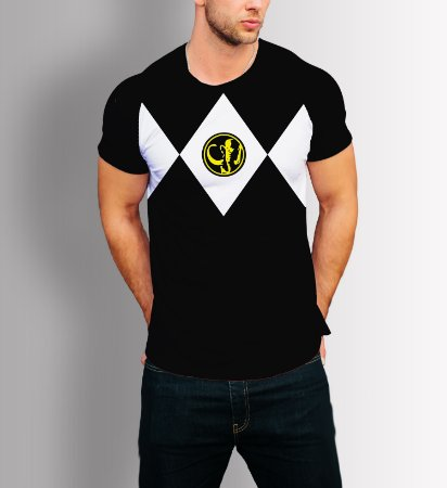 Camisa Camiseta Power Rangers Preto