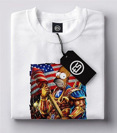 Lançamento Camiseta Homer Americano - Simpsons - Homer America