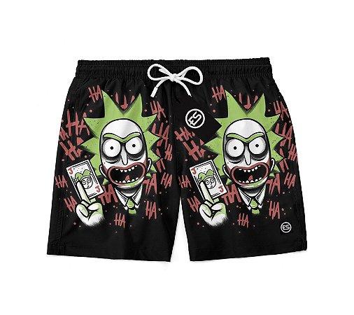 Short Bermuda Ney Moda Praia Mauricinho Joker Rick And Morty  Coleção Verão 2020