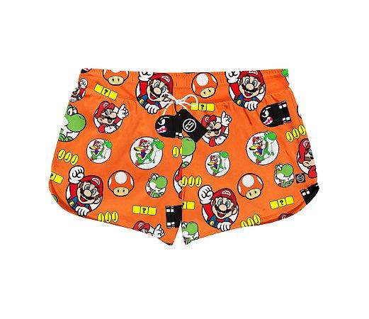 Short Feminino Moda Praia Patricinha - Super Mario World - Yoshi