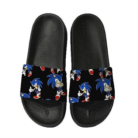 Chinelo Slide Sandalia Unissex Top - Sonic