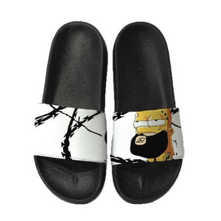 Chinelo Slide Sandalia Unissex Top - Homer Thug Life