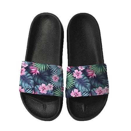 Chinelo Slide Sandalia Unissex Top - Floral Tropical