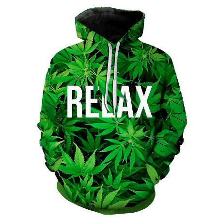 Blusa Moletom Estampa Full 3D - Relax Weed Cannabis