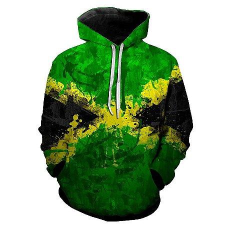 Blusa Moletom Estampa Full 3D - Bandeira Jamaica