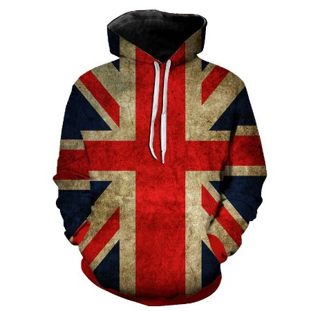 Blusa Moletom Estampa Full 3D - Bandeira United Kingdom