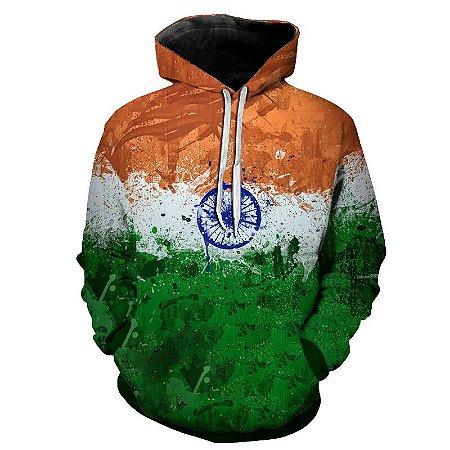 Blusa Moletom Estampa Full 3D - Bandeira Índia