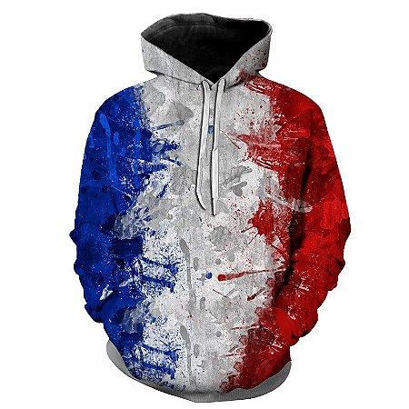 Blusa Moletom Estampa Full 3D - Bandeira França