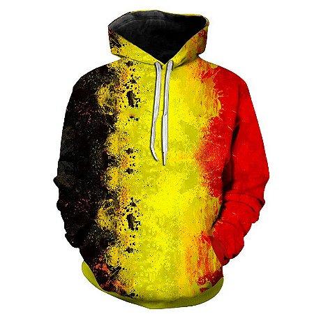 Blusa Moletom Estampa Full 3D - Bandeira Bélgica