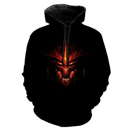 Blusa Moletom Estampa Full 3D - Devil Demon