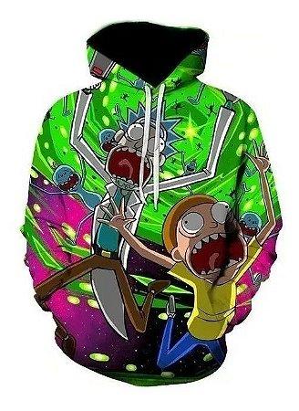 Moletom Roupa Canguru Desenho 3d Full Rick And Morty