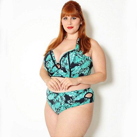 Calcinha Sunkini Biquíni Plus Size Verde