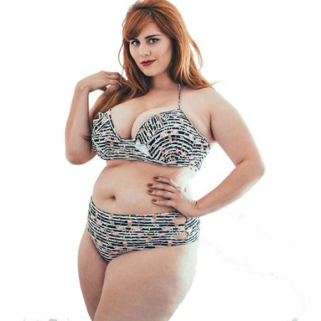 Top Biquíni Plus Size Flamingos Bojo
