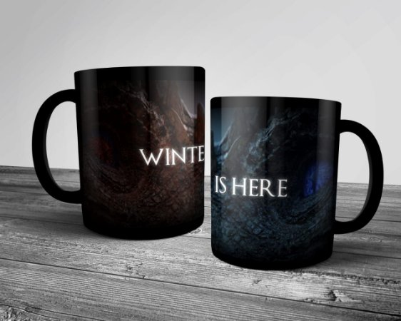 "Caneca ""Winter is Here"" GOT"