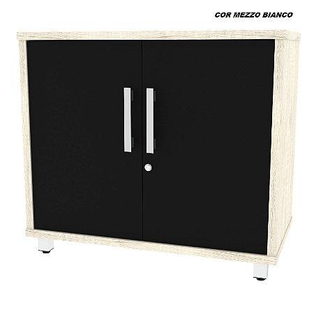 Balcão em madeira 25mm de espessura 2 portas com chave modelo Dallas 84cm larg x 45cm prof x 75cm alt