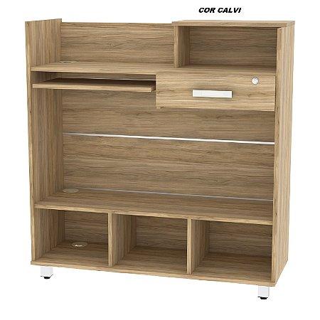 Balcão Caixa em madeira 15mm de espessura modelo ECO 110cm alt x 100cm larg x 36cm prof