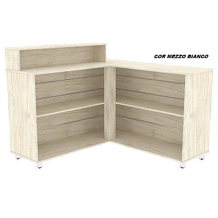 Balcão de Atendimento 140X140 em madeira 15mm de espessura