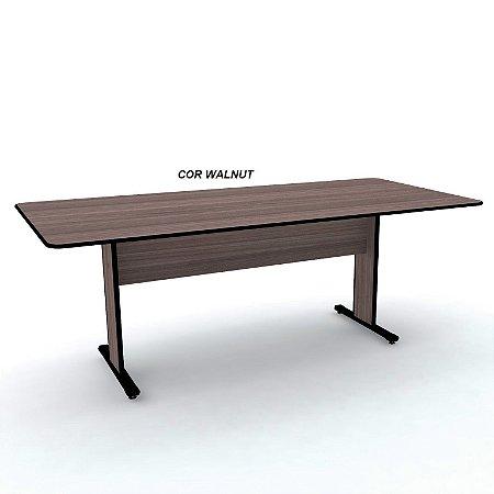Mesa de Reunião Retangular em madeira 15mm de espessura medindo 200cm x 90cm x 74cm linha Maxxi marca Pandin