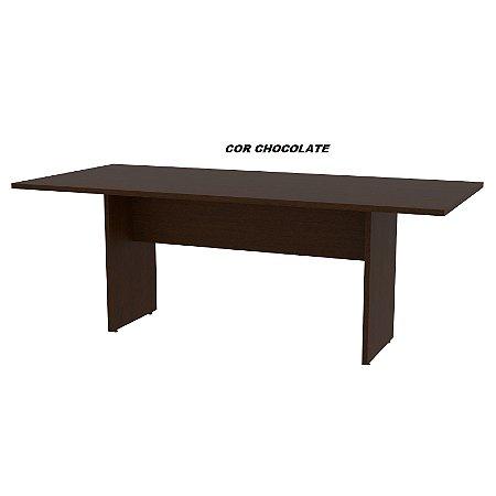 Mesa de Reunião em madeira 25mm de espessura Linha Alternativa 200cm x 90cm x 75cm