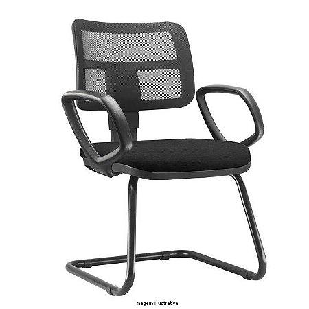 """Cadeira Fixa pés em """"S"""" encosto em Tela modelo ZIP"""