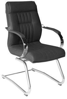 Cadeira Fixa Soft Diretor Estrutura e Braços Cromados Espuma 70mm de espessura