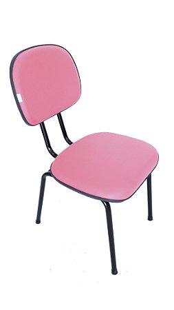 Cadeira Fixa modelo Secretária revestimento em corino