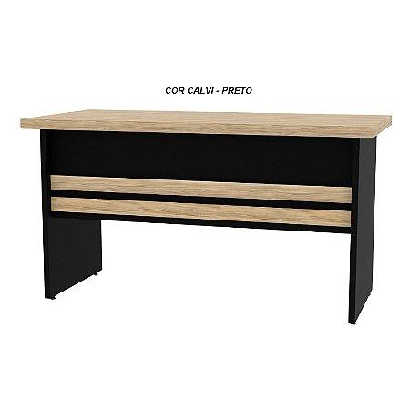 Mesa em madeira tampo engrossado 40/25mm de espessura mesclado com preto linha New Star