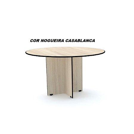 Mesa de Reunião Redonda 110cm de diâmetro em madeira 15mm de espessura linha Maxxi marca Pandin