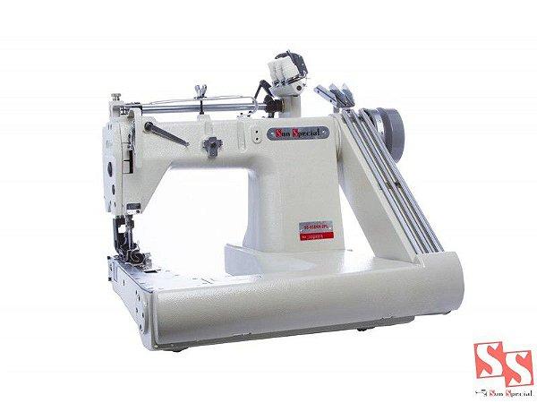 Máquina de Costura Industrial 3 Agulhas Fechadeira de Braço SS-928-XH-2PL