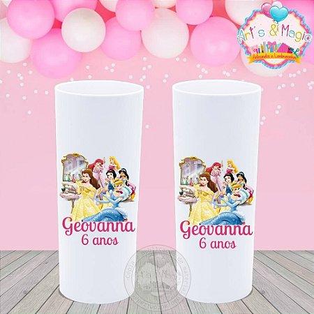 Copo Long Drink Personalizado Princesas Disney