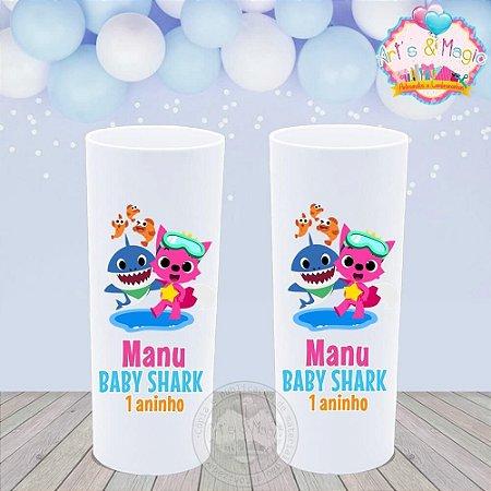 Copo Long Drink Personalizado Baby Shark