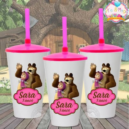 Copo twister Personalizado Masha e o Urso