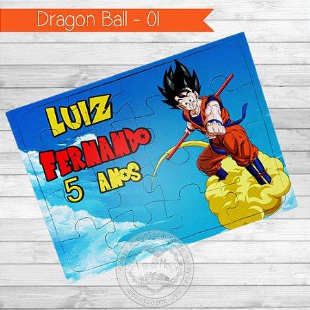 Quebra Cabeça Personalizado Dragon Ball Z