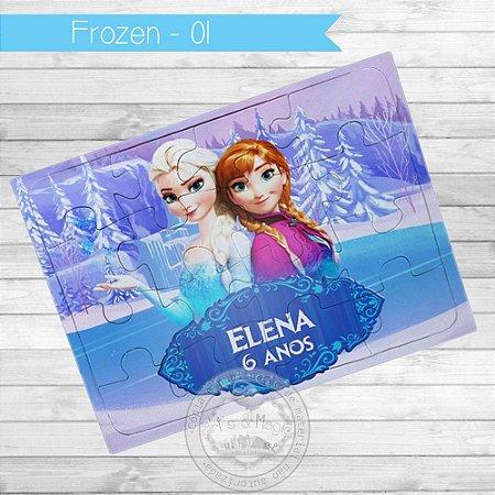 Quebra Cabeça Personalizado Frozen