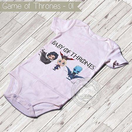 Body Infantil para bebê Game Of Thrones