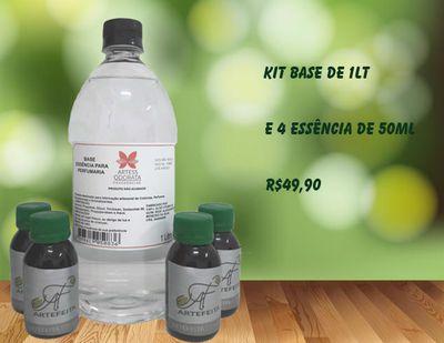 Kit Base Difusor 1Lt+ 4 Essências 60ml