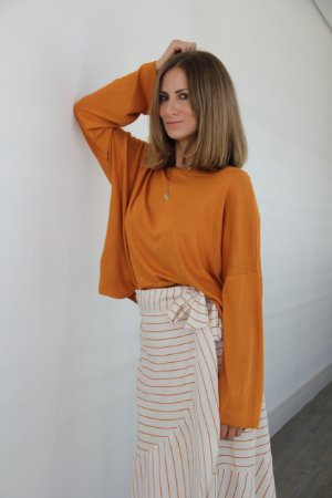 Blusa malha tricot manga longa