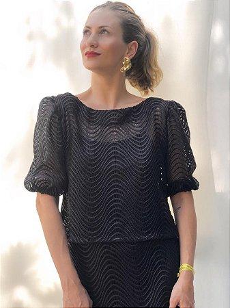 blusa de renda guipier