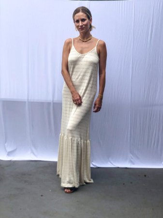 Vestido Malha Tricot Franzido