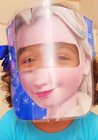 Mascarinhos - Mascara Protetora Facial Infantil Elsa Frozen - face Shield