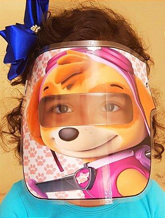 Mascarinhos - Mascara Protetora Facial Infantil- SKYE PATRULHA CANINA - face Shield